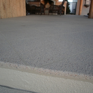 concrete patio aggregate effects