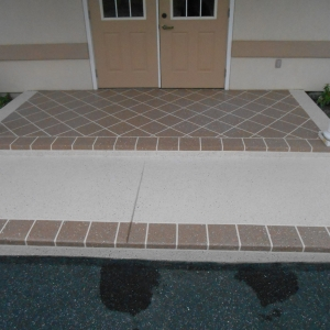 front entry with aggregate effects