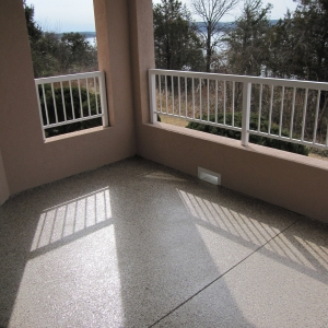 patio resurfacing with aggregate effects