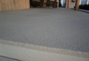 concrete patio aggregate effects