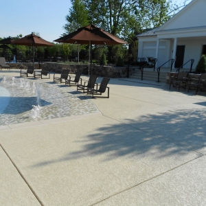 commercial concrete pool deck