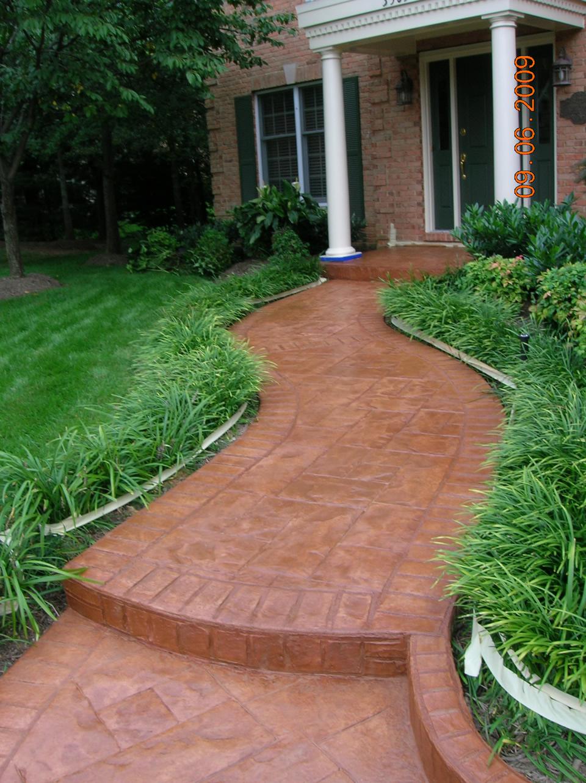 decorative concrete walkways orange county
