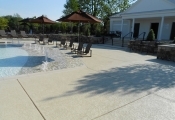 commercial concrete pool deck