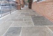 decorative concrete front entry