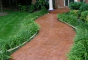 decorative concrete walkways orange county