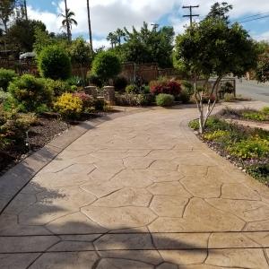 stamped concrete driveway orange county