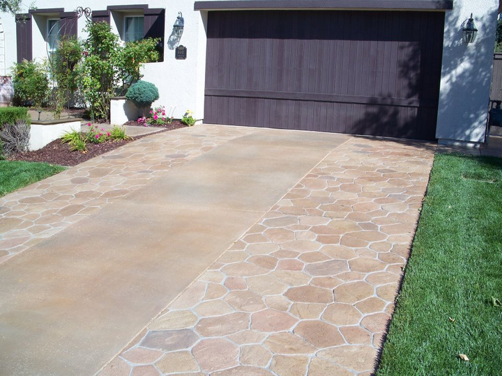 stamped concrete driveway orange county