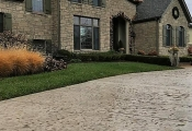orange county stamped concrete driveway
