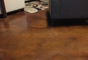 interior floor stained orange county