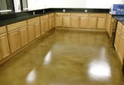 stained concrete interior floor