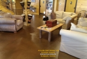 sun acid concrete floor