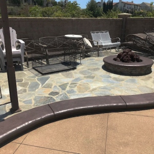 commercial concrete stamping pool deck orange county