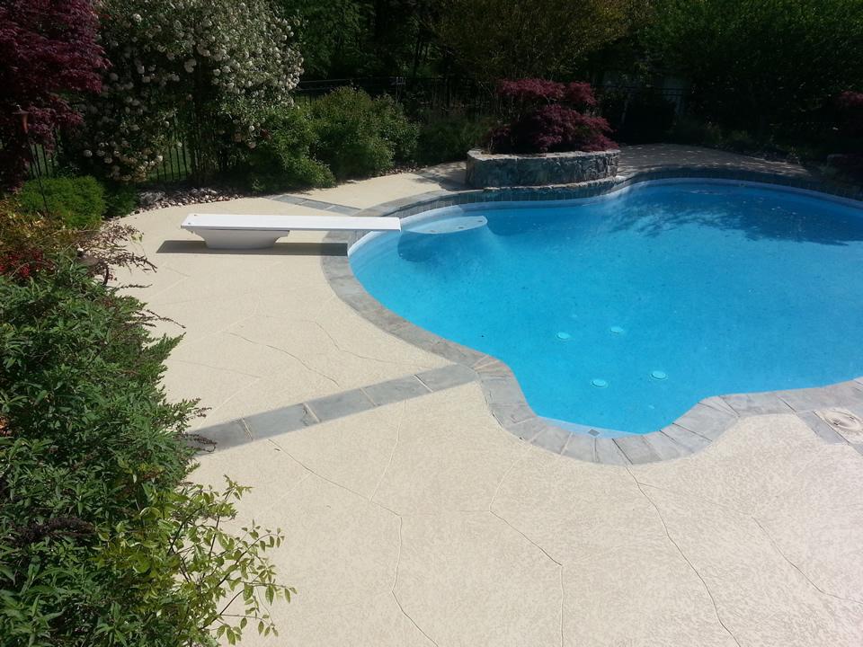 concrete pool deck crack repair