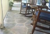 concrete patio overlay limestone