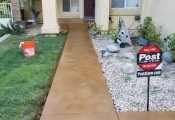 stained concrete walkway orange county