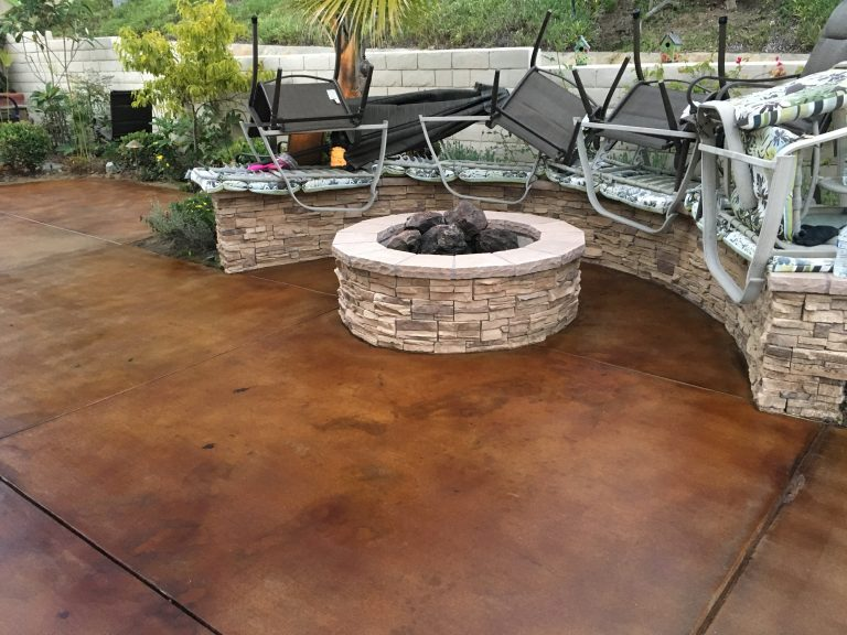 stained-concrete-around-fireplace