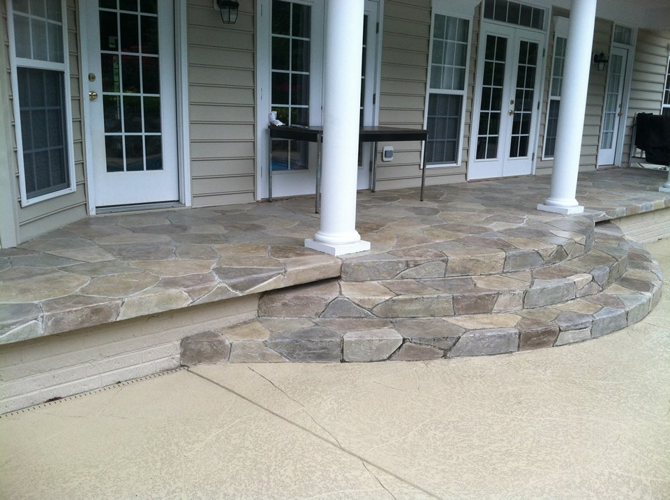 stamped concrete front entry orange county ca