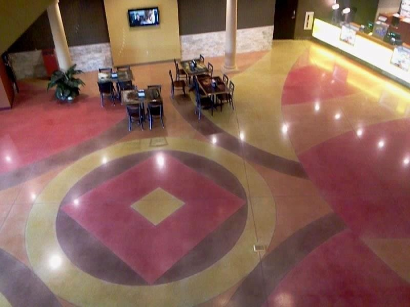 commercial stained concrete orange county ca