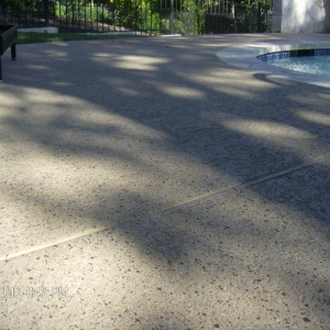 pool deck resufacing with aggregate effects