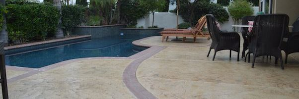 orange county decorative concrete pool deck