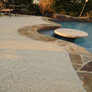 Westminster, CA Resurfaced Pool Deck