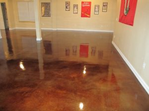 Garden Grove, CA Stained Basement Floor