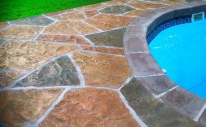 Mission Viejo, CA Stamped Pool Deck