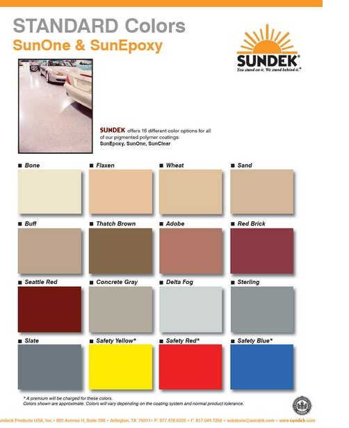 epoxy coating colors