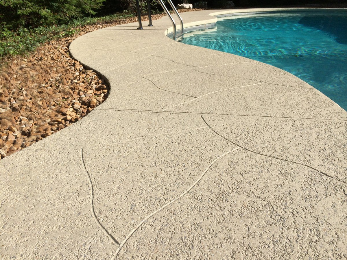 slip resistant spray knockdown finish pool deck