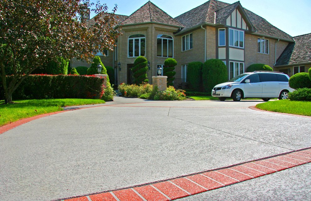 Decorative Drive Way : Concrete driveway coatings overlays orange county