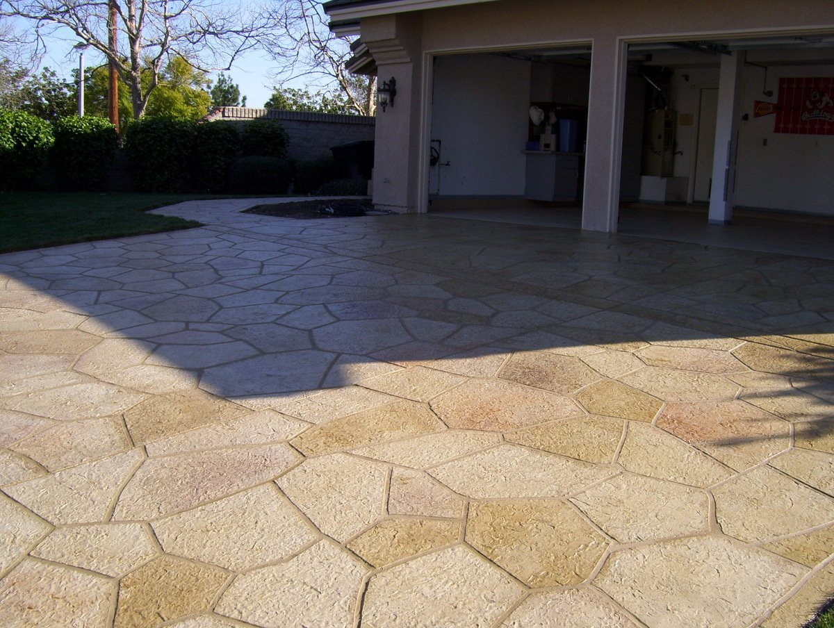 stamped concrete driveway contractor orange county ca
