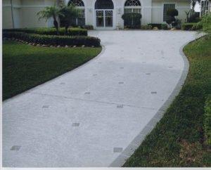 textured concrete driveway orange county ca
