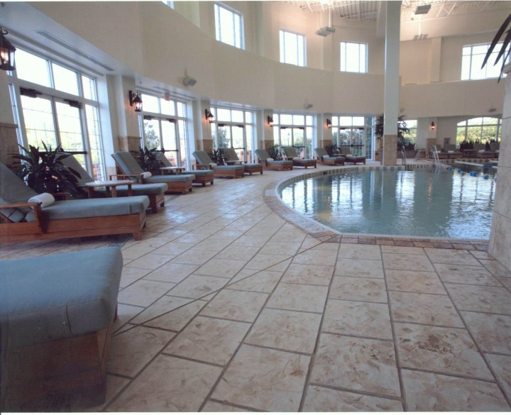 hotel stamped concrete pool