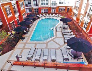 stunning hotel pool deck overlay