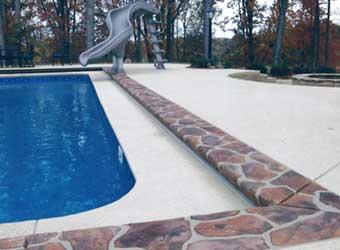 concrete pool deck coping stone