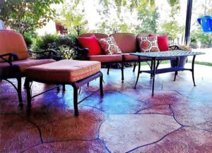 stamped concrete application orange county