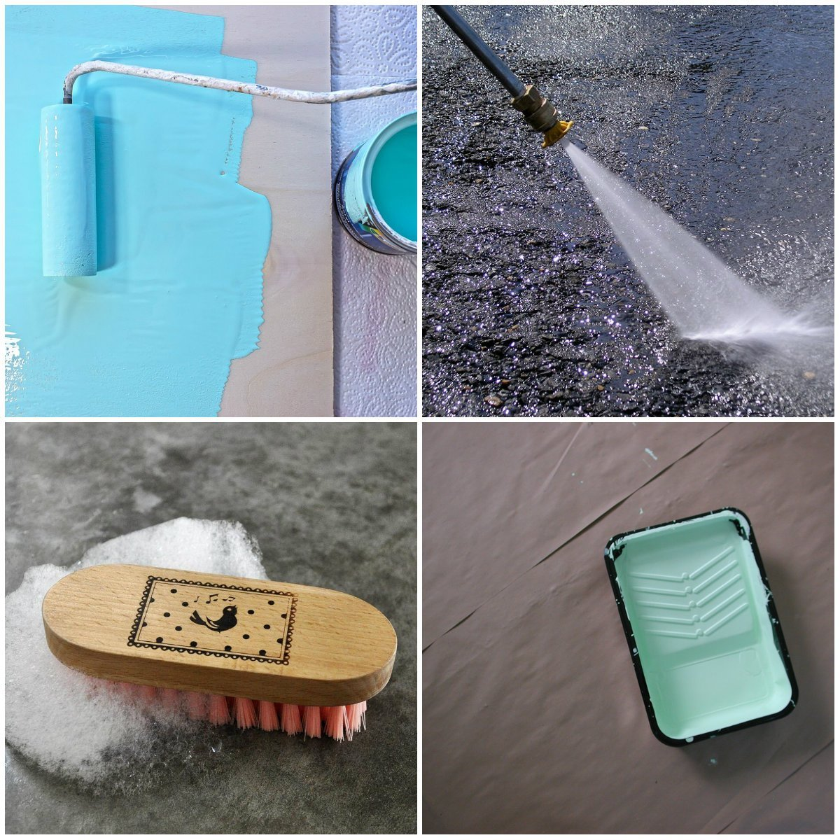 concrete pool deck paint tools
