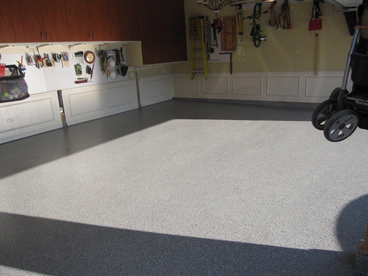 epoxy treated garage