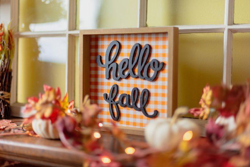 hello fall home decor