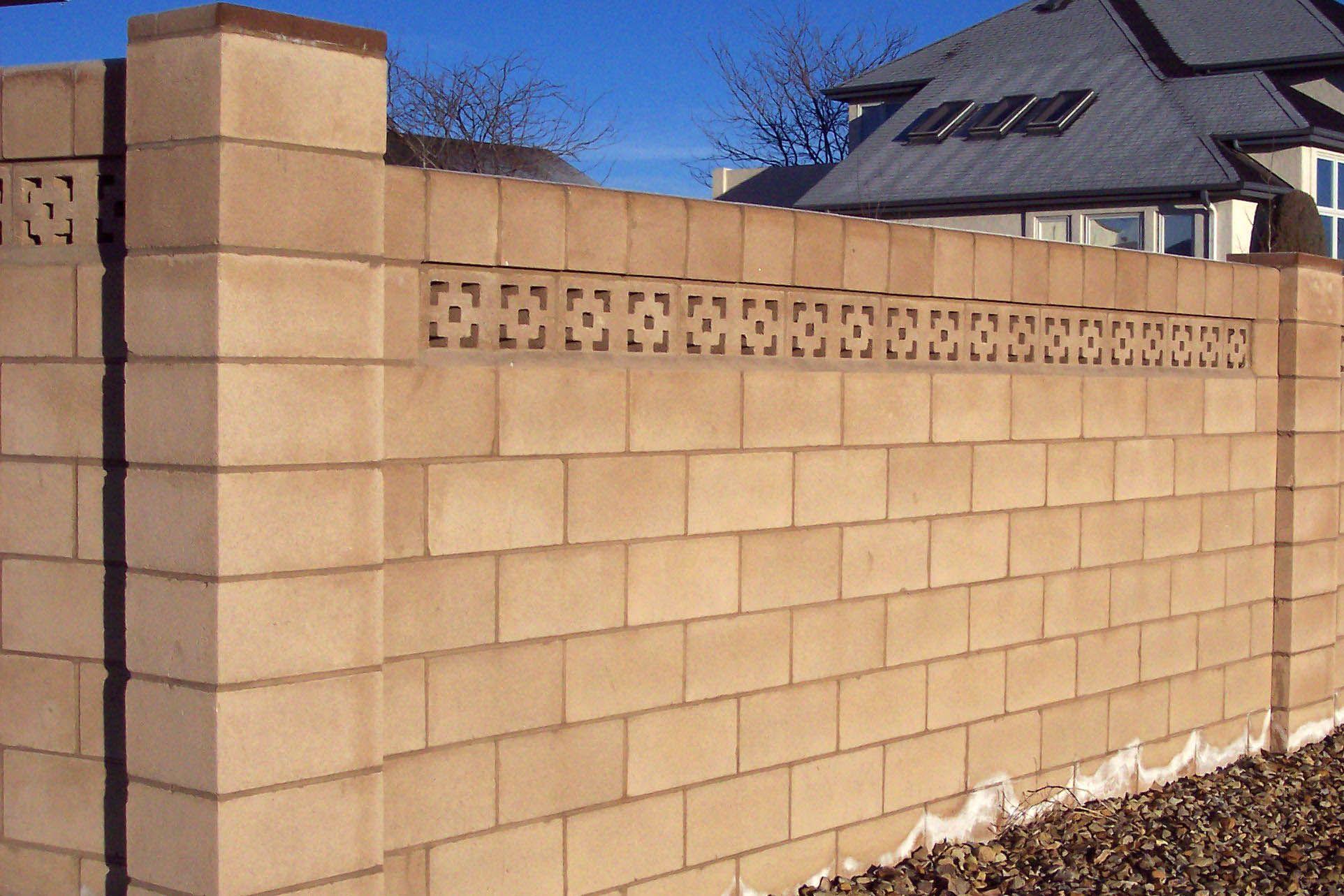 brick wall fence