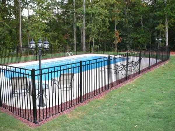 strong steel fences swimming pool