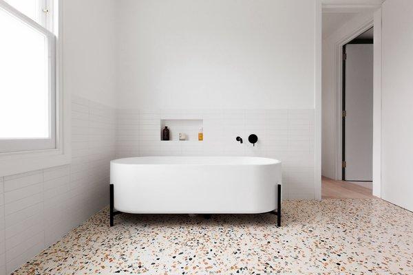 terrazzo floor bathroom