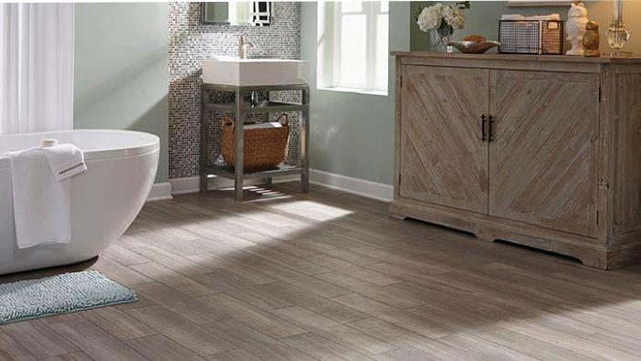 vinyl bathroom floor
